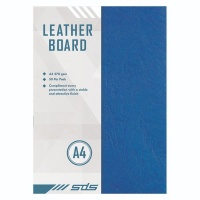 A4 270gsm Leather Grain Board Blue - Pack of 50 Photo