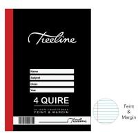 4 Quire A4 384 pg Hard Cover Book - Feint & Margin Photo