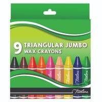 Treeline Triangular Jumbo Wax Crayons 9 Piece Photo