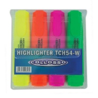 Collosso Highlighters Chisel Tip - Wallet of 4 Photo