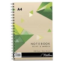 Treeline Spiral Note Book Side Bound A4 - Wiro 100pg Photo