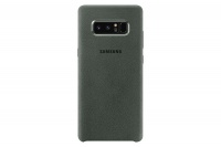 Samsung Note 8 Alcantara Cover - Green Photo