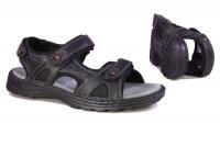 Hush Puppies Big Guy Black Men's Backstrap Sandal - Black Photo