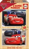 Educa Boys Cars 3 Puzzles - 2 X 16 Piece Photo