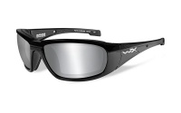 Wiley X Boss Silver Flash Lens Glasses with Gloss Black Frame Photo