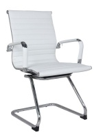 The Office Chair Corp TOCC White Ribbed Visitors' Office Chairs - Set of 2 per box Photo