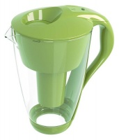 PearlCo Glass Water Filter Jug Green with One Cartridge Photo