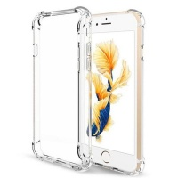 Clear Cover with Shockproof Corners & Glass Screen Protector for iPhone 6 Plus Photo