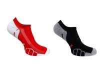 Vitalsox Running Ghost Lw 2 Pack Compression Socks - Red & Black Photo