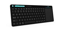 Rii Wireless QWERTY Multimedia Touchpad Full Keyboard - Black Photo
