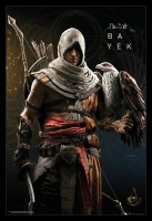 Assassins Creed Origins - Bayek Poster with Black Frame Photo