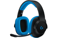 Logitech G233 Gaming Headset - Black with Blue Photo
