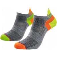 1000 Mile Ladies Double Layer Liner Socks - Grey & Lumo Photo