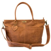 Mally Beula Leather Baby Bag - Toffee Photo