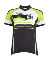 WWF-Kway Ride For Nature Ladies Cycle Shirt - Green Photo