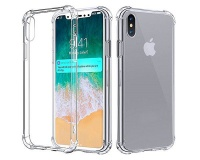 Shockproof Slim Fit Protective Case with Transparent Soft Back for iPhone X Photo