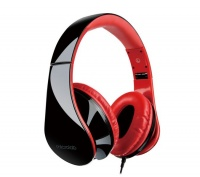 MICROLAB K360 Foldable Headphones - Black & Red Photo