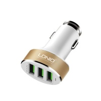 LDNIO 3 USB Car Charger 5.1A with Auto ID Photo