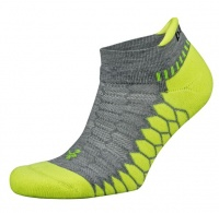 Balega Silver Antimicrobial No-Show Compression-Fit Running Socks - White & Grey Photo