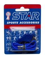 Star Plastic Whistle With Lanyard - Yellow Photo