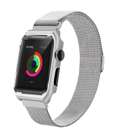 Apple Meraki 2-in-1 Case & 42mm Milanese Band for Watch - Silver Photo