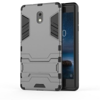 """Nokia 2"""" 1 Shockproof Stand Case for 3 - Silver Cellphone Cellphone Photo"""