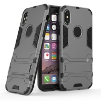 """Apple 2"""" 1 Shockproof Stand Case for iPhone X known as Iphone 10 - Navy Photo"""