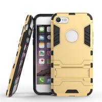 "Apple 2"" 1 Shockproof Stand Case for iPhone 8 - Gold Photo"