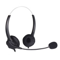 Tuff-Luv USB Noise Cancelling Headphones with Microphone and Volume Controls - Black Photo
