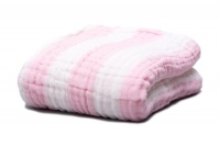 Fox Fable 6 Layer Dream Blanket - Pink Photo