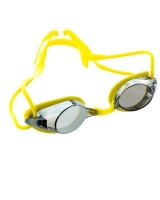 Adult Aqualine Race Swim Goggles - Yellow Photo
