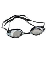 Adult Aqualine Race Swim Goggles - Black Photo