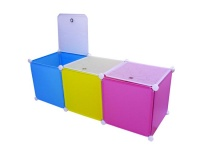 Creative Living DIY Plastic Toy Organizer - Blue Yellow & Pink Photo