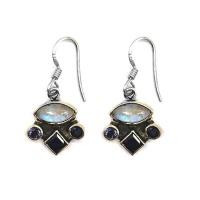 Silverbird Oval & Diamond Shaped Hook Earrings Photo