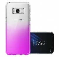 Samsung Transparent Gradient Gel Cover for Galaxy S8 - Purple Photo
