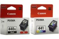 Canon PG 440 XL/CL441 Black 440XL & Tri-Color 441 Ink Cartridges Photo