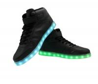 Boys Hi-Top LED Sneakers - Black Photo