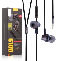 Remax 610D Intelligent Recognition Earphones IOS/Android - Black Photo