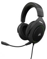 Corsair HS50 Stereo Gaming Headset - Green Photo