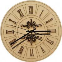 Wall Clock-Engraved Hardwood - Roman Light Photo