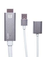 PowerUp Lightning Digital AV Cable - Silver Photo