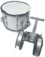"14"" Jinbao Snare Drum with Carrier - White Photo"