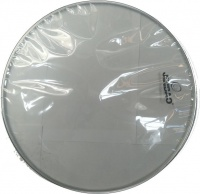 "14"" Jinbao Marching Snare Drum Skin - Clear Photo"