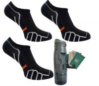 Vitalsox Men's 3 Pack Socks & Bottle - Premier Black Photo