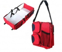 Baby Carry & Nappy Bag - Red Photo