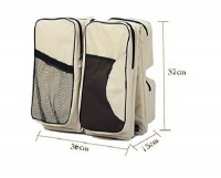 Baby Carry & Nappy Bag - Beige Photo