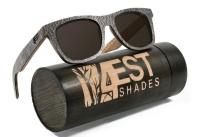 4EST Shades Wooden Polarized Sunglasses - Stone Photo