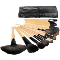 24 Piece Synthetic Hair Cosmetic Makeup Brush Set Photo