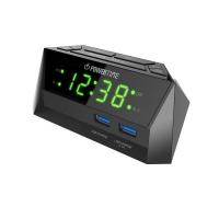 Beare Digital Alarm Clock Led Display 2 Usb - Green Photo