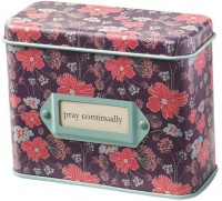 Christian Art Gifts: Pray Continually Cards Prayer Cards In Tin Photo